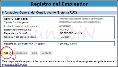 Como darse de Alta como Empleador enT-Registro